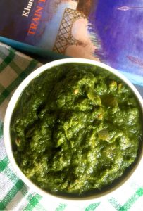 The utlitmate winter comfort food, Sarson ka saag. Mustard leaves cooked with sauteen onion and tomato and spices