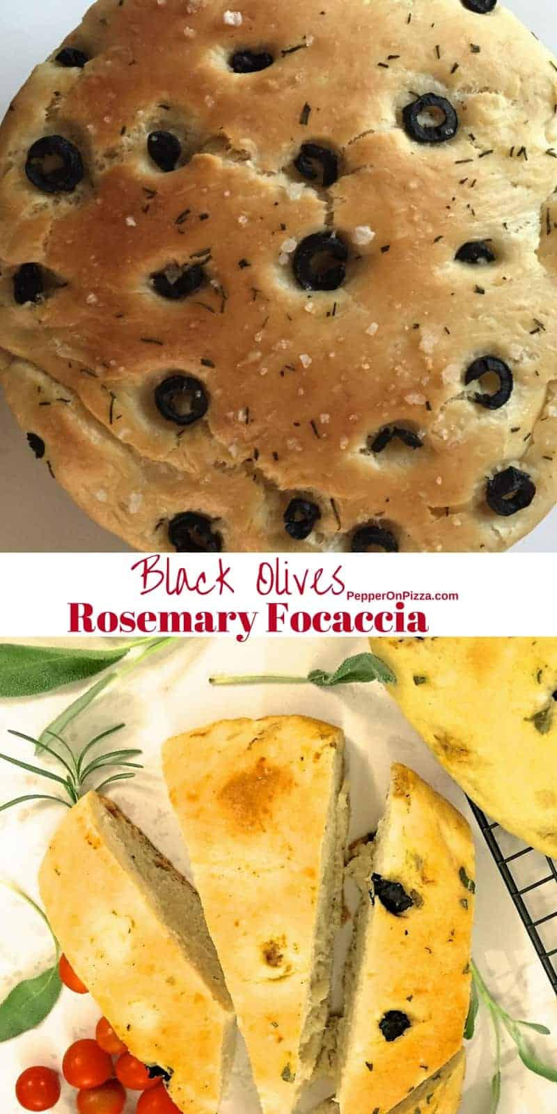 Focaccia with black olives and rosemary_peperonpizza.com