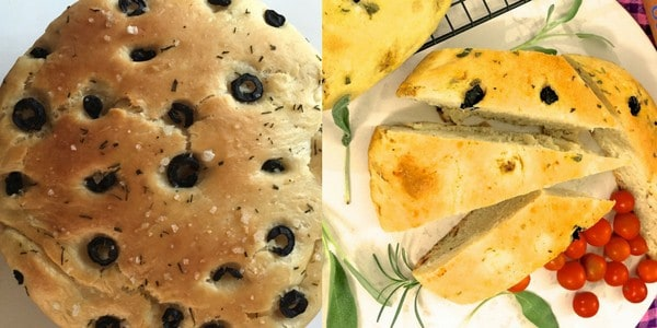 Black olives and rosemary focaccia bread_pepperonpizza.com