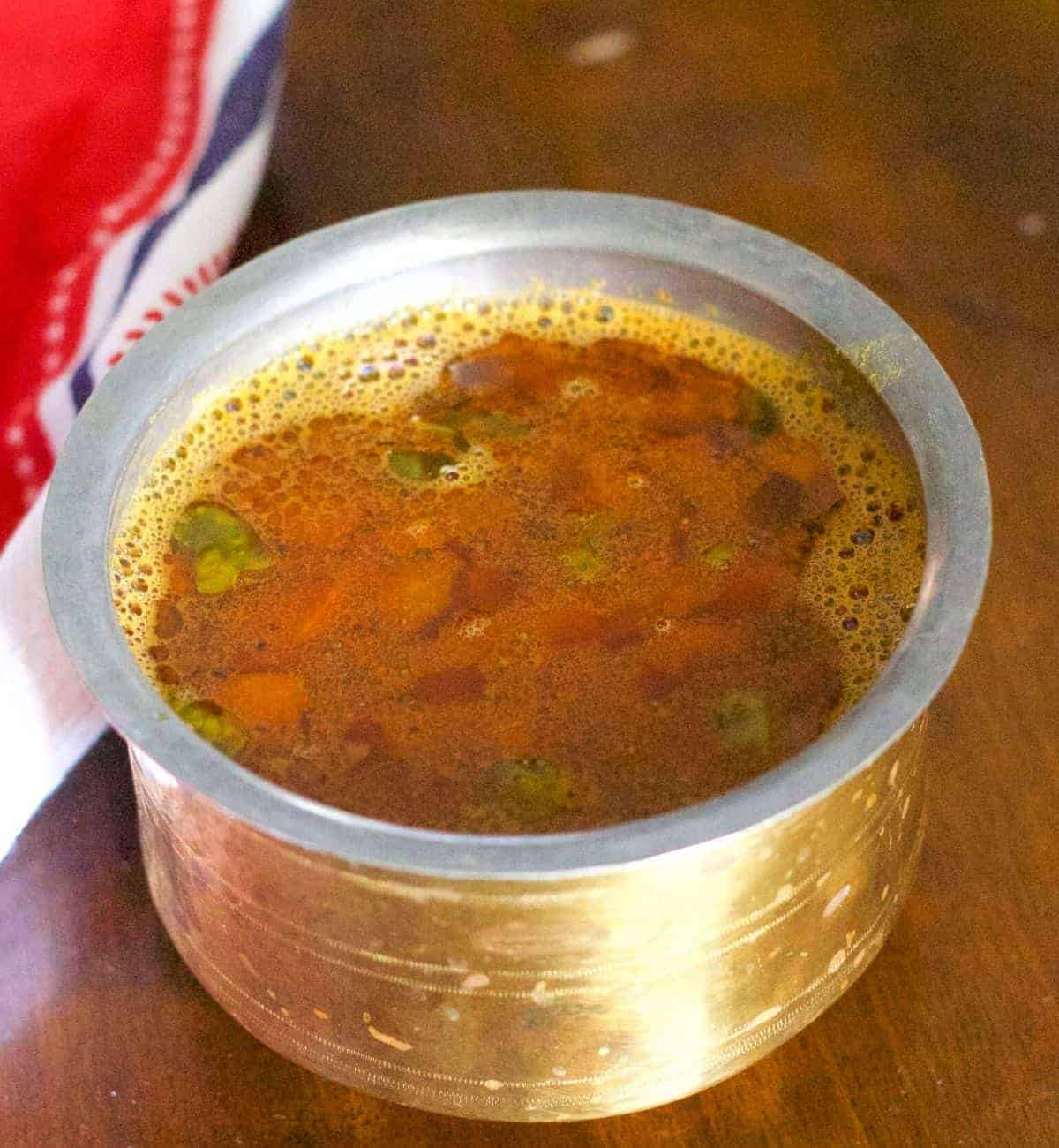 Tomato Rasam from Homemade Rasam Powder Recipe | Pepper On Pizza
