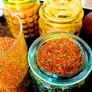 A traditional Tamil Iyer recipe for Homemade Rasam Powder recipe for a spice powder made with dry chilies, coriander and cumin.