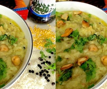 Easy tasty moong dhal khichidi