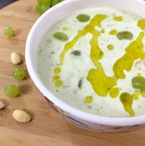 Chilled white grape and almond gazpacho_PepperOnPizza.com