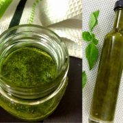 Homemade Basil Oil_PepperOnPizza.com