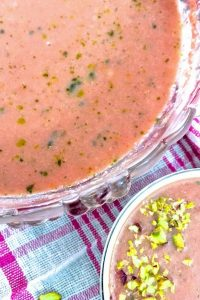 Watermelon Gazpacho with Basil Oil_PepperOnPIzza.com