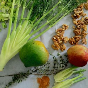 Turmeric Walnuts Fennel Soup Ingredients