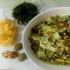 Fettucine in Fennel Frond Pesto