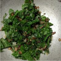 Kale and Onion_add Kale and saute