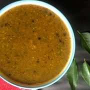 A traditional recipe for new mothers after delivery, Milagu kuzhambu or Pepper kuzhambu / gravy is delicious with hot rice, ghee and roasted pappad.