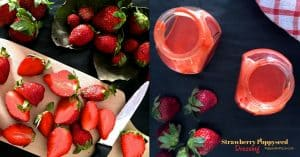 Strawberry Poppyseed Dressing with Chia Seeds_PepperOnPizza.com