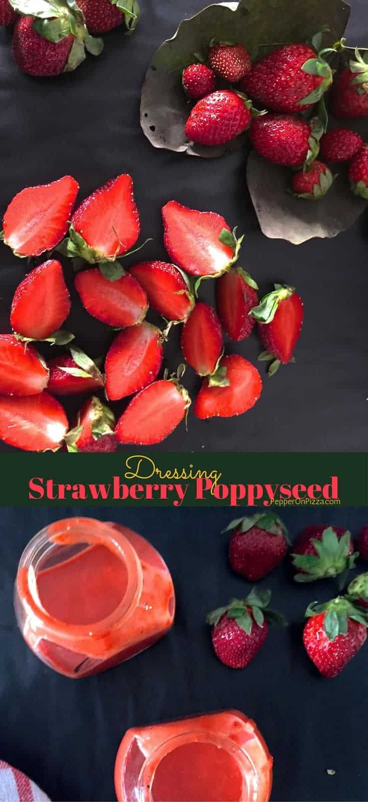 Strawberry Poppyseed Dressing with Chia Seeds