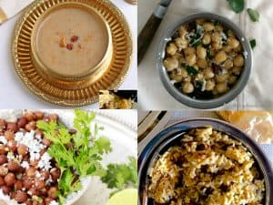 Easy Navaratri Naivedyam and Sundal Recipes for Navaratri Pooja and for Navaratri Golu for busy Moms. No Onion No Garlic Recipes