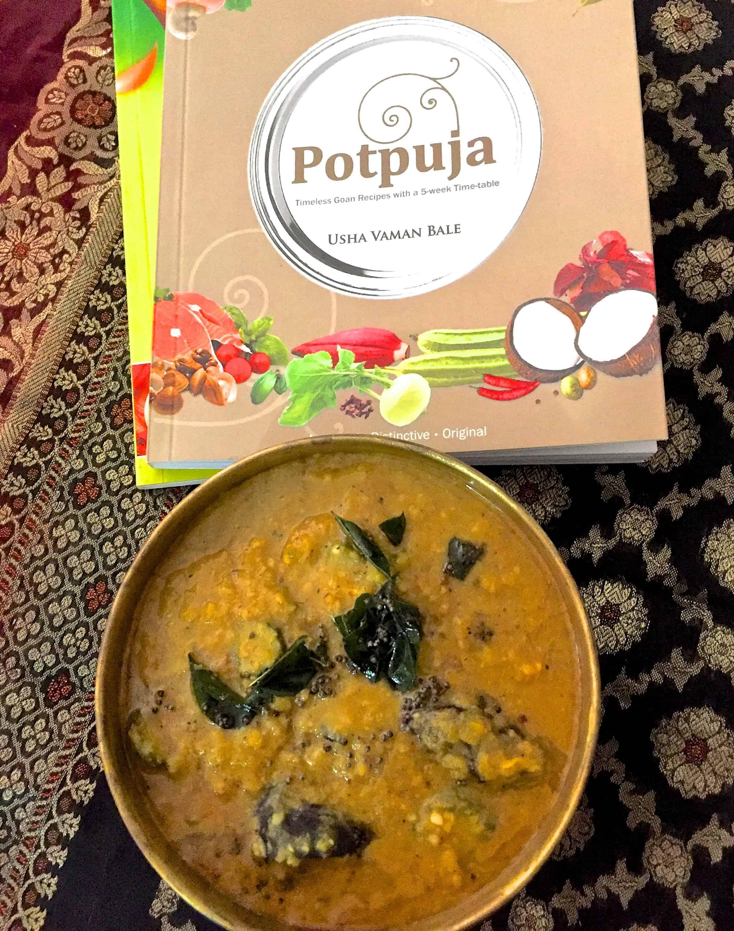 Goan Bitter gourd kokum Dal with Potpooja cook book alongside