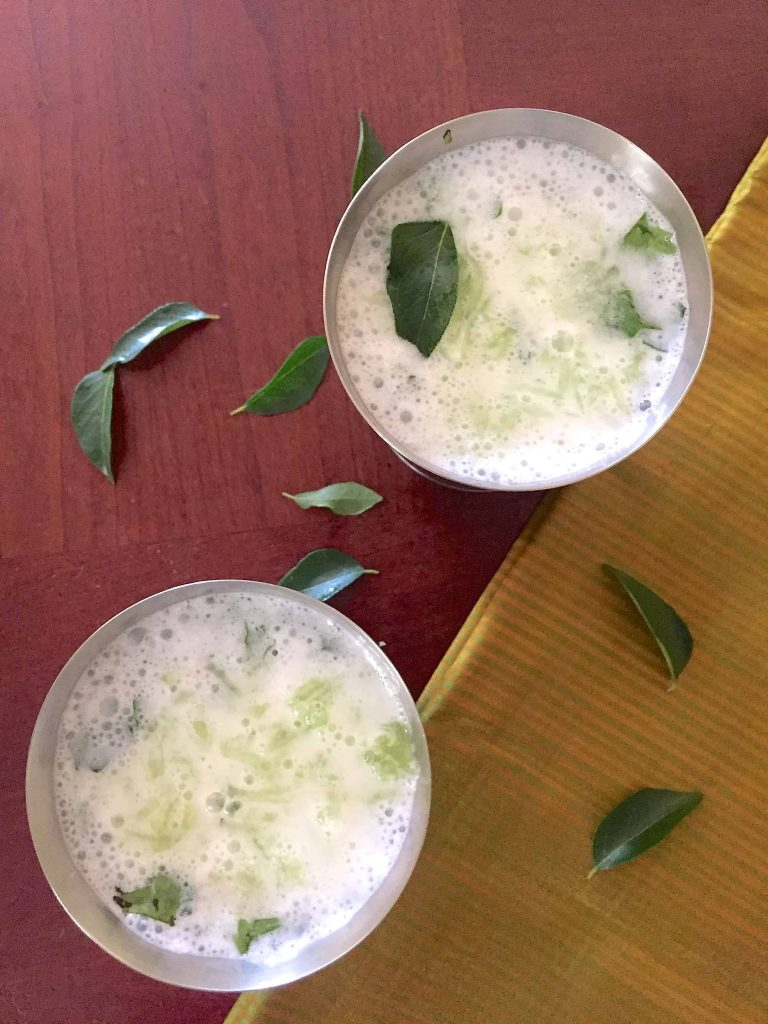 Neer Mor for a refreshing summers drink. Buttermilk with herbs and cucumber