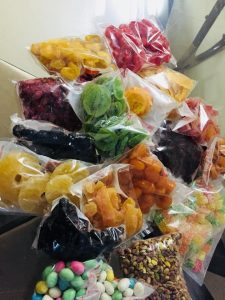 Dried fruits of different colours and flaovours from my shopping spree at Crawford Market, Mumbai
